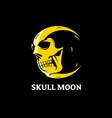 skull moon concept vector image vector image