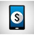 social media mobile money bank digital vector image