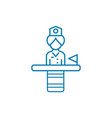 state employee linear icon concept state employee vector image