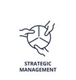 strategic management line icon outline sign vector image vector image