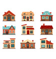 suburban house living houses housing roof vector image