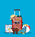 travel bag luggage vector image vector image