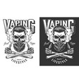 vaping apparel design vector image vector image