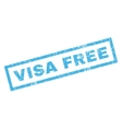 Visa Free Rubber Stamp vector image vector image