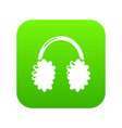winter headphones icon simple black style vector image vector image