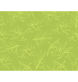 Yellow olives from branches on a white background vector image vector image