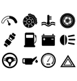 car interface icon set vector image