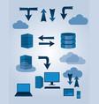 Sever database symbols vector image
