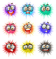 Thorny balls with faces vector image