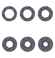 Set of black camera shutter icons on white vector image