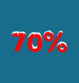 10 off a discount of ten percent numbers in the vector image vector image