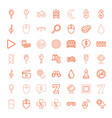 49 reflection icons vector image vector image