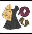 actual drawing spring autumn look street vector image