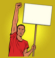 afrikan man protests with a poster vector image