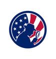 american private investigator usa flag icon vector image vector image