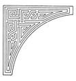 arabian spanrail panel is a left side corner vector image vector image