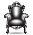 baroque black armchair french luxury rich vector image
