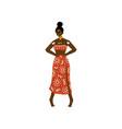 beautiful african woman aboriginal girl dressed vector image vector image