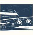 big civil aircraft old poster vector image vector image