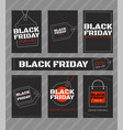 black friday sale horizontal and vertical banners vector image