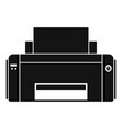 black ink printer icon simple style vector image vector image