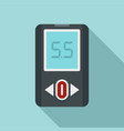 blood glucometer icon flat style vector image vector image