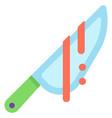 blood knife flat vector image