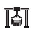 building industrial crane black concept vector image vector image