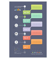 business infographic elements template vector image vector image