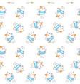 cartoon cute sweet dog seamless pattern vector image