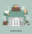 courthouse session law composition vector image vector image