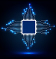 cpu microprocessor microchip abstract vector image vector image