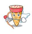 cupid ice cream tone character cartoon vector image vector image
