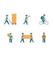 Delivery courier logistics flat style vector image