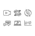 e-mail quick tips and video camera icons set vector image vector image