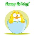 Easter bird cartoon vector image vector image