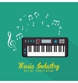 electric piano isolated icon design vector image