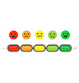 emotional scale mood indicator customer vector image vector image