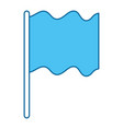 flag position isolated icon vector image