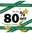 flyer sale discount label or banner occasion of vector image vector image