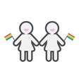 Gay marriage Pride symbol Two contour women with vector image vector image