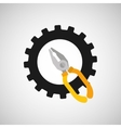 gear construction tool repair icon vector image