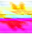 glitch art vector image