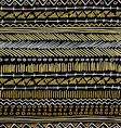 Gold boho seamless pattern retro tribal background vector image vector image