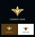 gold luxury abstract flower logo vector image vector image