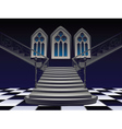Gothic Stairs Interior4 vector image vector image