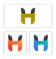 h letter logo template for your company and vector image