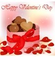 Happy Valentine s Day card with box of cookies vector image vector image
