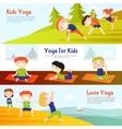 Kis Yoga Horizontal Banners Set vector image vector image