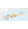 long island administrative and political map vector image